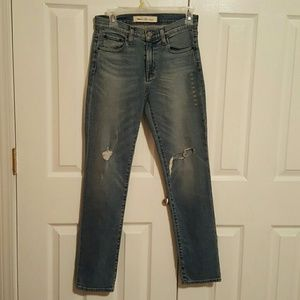 Gap Real Straight Distressed Denim Jeans Size 26R